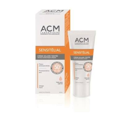 ACM Sensitelial fényvédő krém SPF 50+ 40ml világos árnyalat