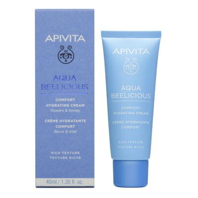 APIVITA AQUA BELICIOUS Hidratáló Rich krém normál/száraz bőrre 40 ml