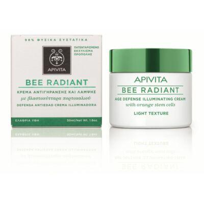 APIVITA BEE RADIANT Bőrfiatalító és ragyogást fokozó arckrém LIGHT