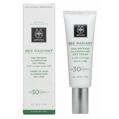 APIVITA BEE RADIANT Ragyogást fokozó arckrém SPF30 40 ml
