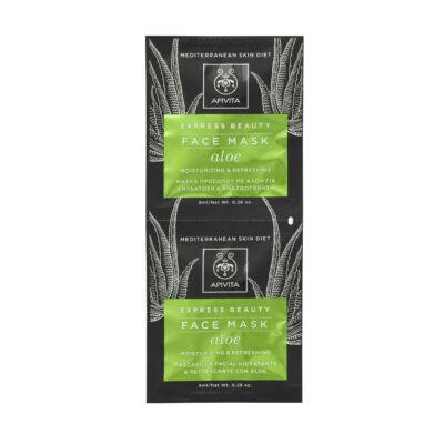 APIVITA Express Hidratáló, frissítő arcmaszk - Aloe verával 2x8ml