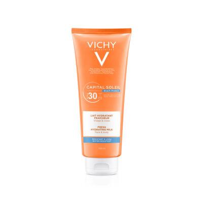 Vichy Capital Soleil Beach Protect Hidratáló naptej arcra és testre SPF 30 300 ml