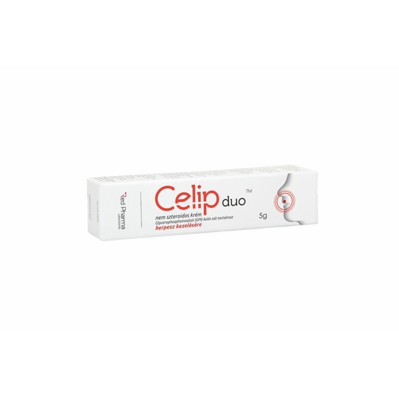 CELIP DUO nem szteroidos krém, herpesz kezelésére 5gr