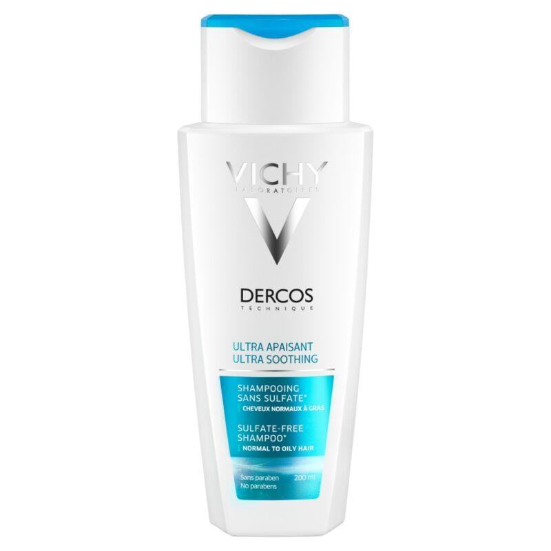 Vichy Dercos nyugtató hatású sampon érzékeny fejbőrre, normál vagy zsíros hajra 200 ml