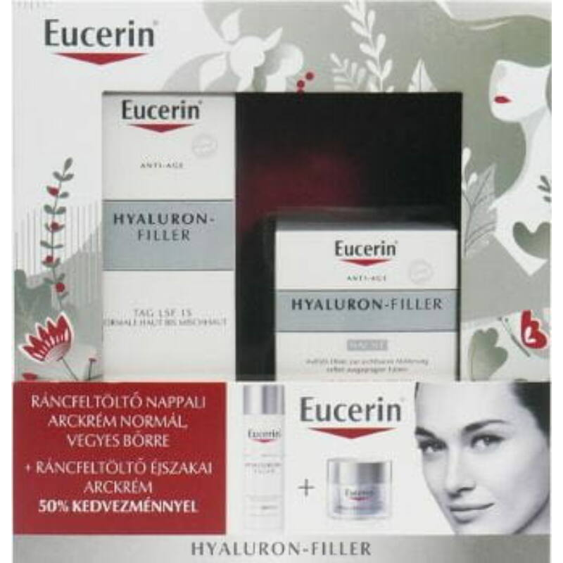 Eucerin Hyaluron-Filler Karácsonyi csomag normál, vegyes bőrre
