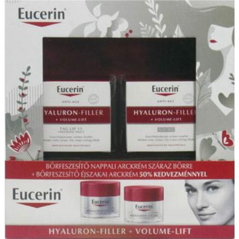 Eucerin Hyaluron-Filler+Volume-Lift Karácsonyi csomag száraz bőrre