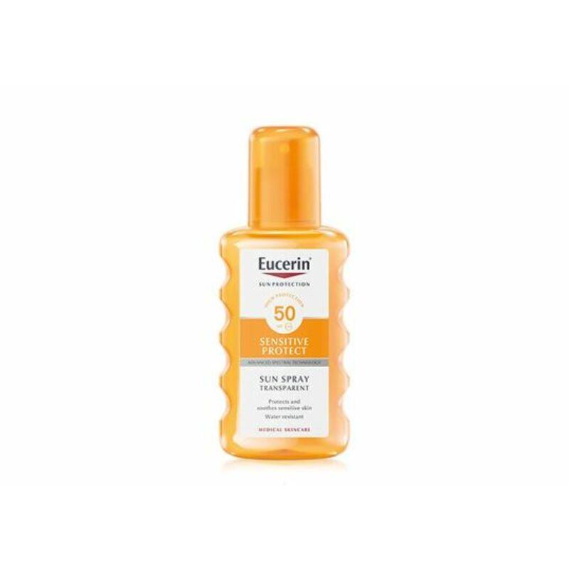 Eucerin Sun Sensitive Protect Színtelen napozó spray FF50 200 ml